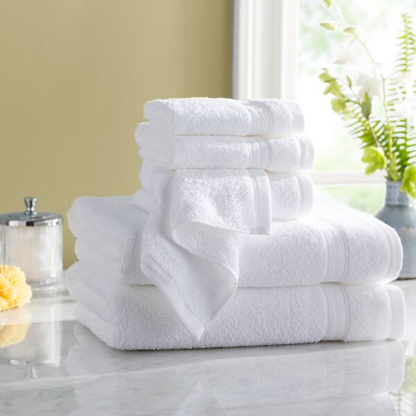Wayfair Basics Quick Dry 6 Piece 100% Cotton Towel Set by Wayfair Basics™